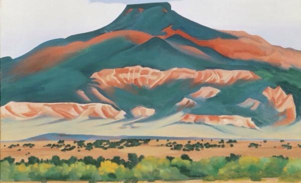 "Georgia O'Keeffe, ""My Front Yard, Summer"", 1941, Oil on canvas, 20"" x 30"""