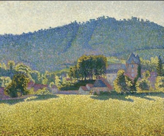Comblat et la vallée de la Cère, 1887 Paul Signac
