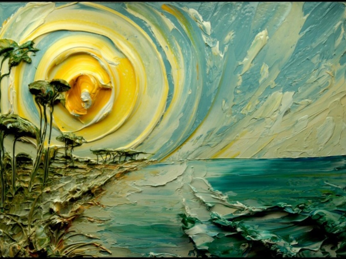 "The Beautiful Textured Art of ""Sculpting with Paint"" by Justin Gaffrey"