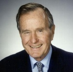 The 41st president of the United States, George H.W. Bush served as vice president under Ronald Reagan. He is the father of George W. Bush, the 43rd president.