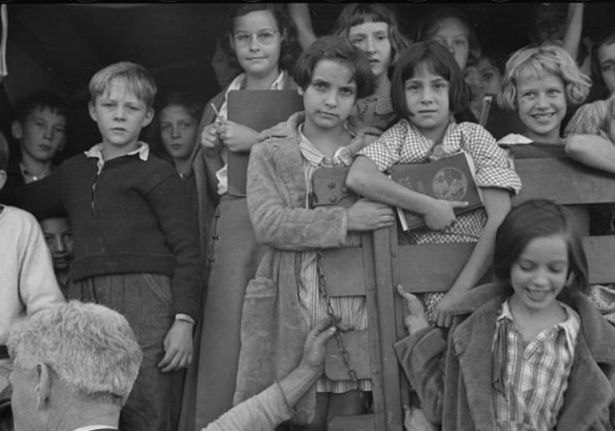 School youngsters, Red House, West Virginia. Ca. October, 1935