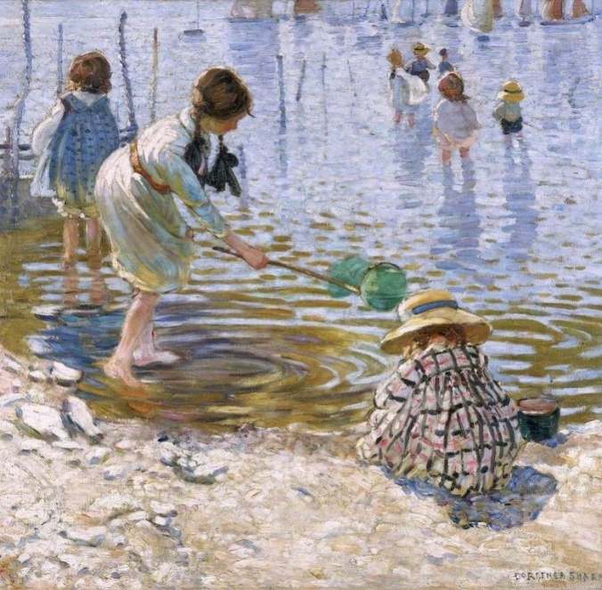 At the Seaside - Dorothea Sharp (1874-1955)
