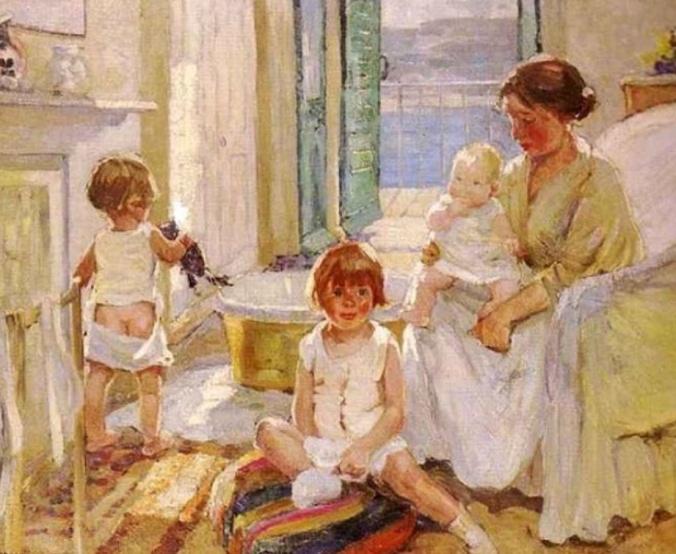 """Dorothea Sharp, (1874-1955): El baño"""