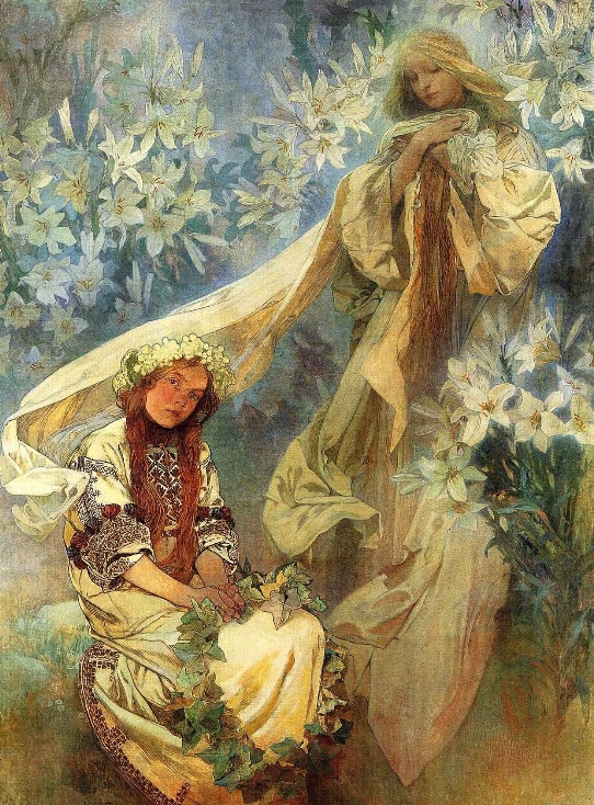 Madonna of the Lilies, 1905 ~ Alphonse Mucha