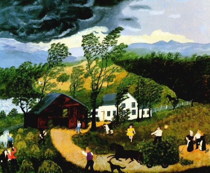 """Paintin's not important. The important thing is keepin' busy."" Grandma Moses"