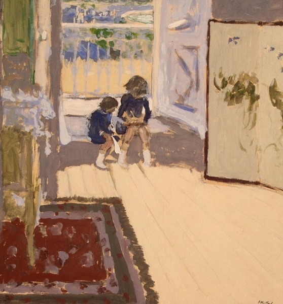 Édouard Vuillard (1868-1940), Children in a Room (c.1909), gouache on paper pasted on canvas