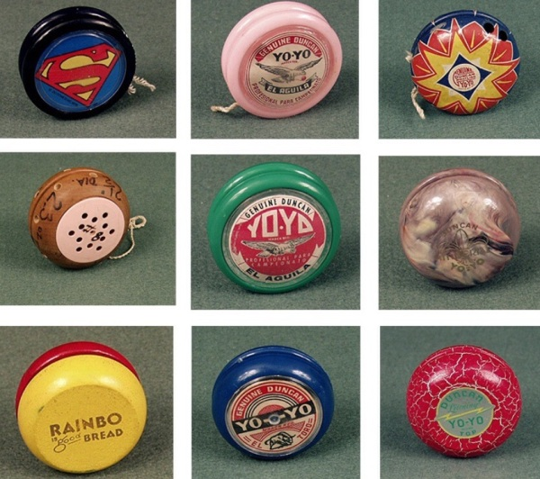 Typology of Duncan Yo-Yos. Smithsonian collection. Via Digital Public Library