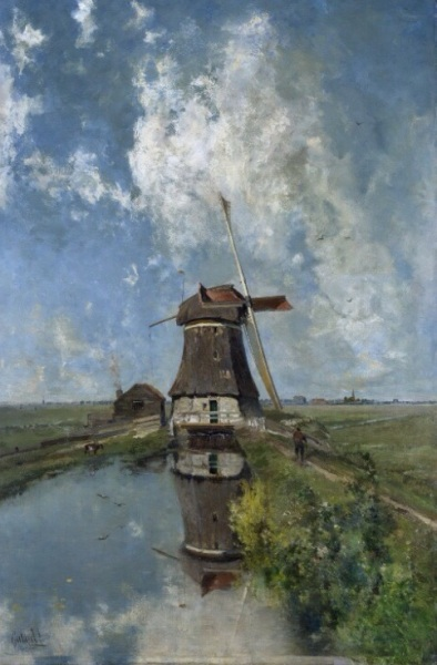 Poldervaart Mill, In the Month of July Paul Joseph Constantin Gabriel, c. 1889