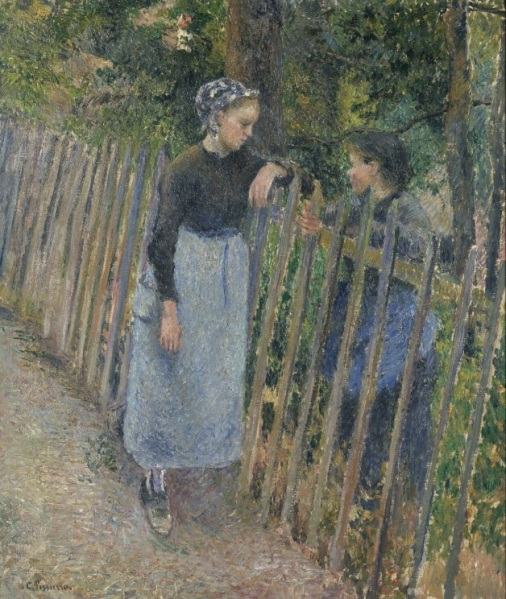 The Conversation Camille Pissarro, c. 1881