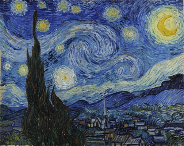 Starry Night 1889 Vincent van Gogh (1853-1890)