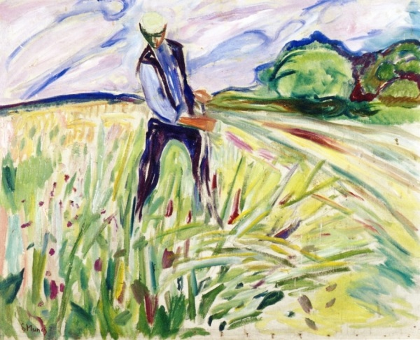 """Norwegian painter and printmaker Edvard Munch. He's most famous for his painting """"The Scream"""" and his deep psychological themes and symbolism inspired the German Expressionists in the early twentieth century."""