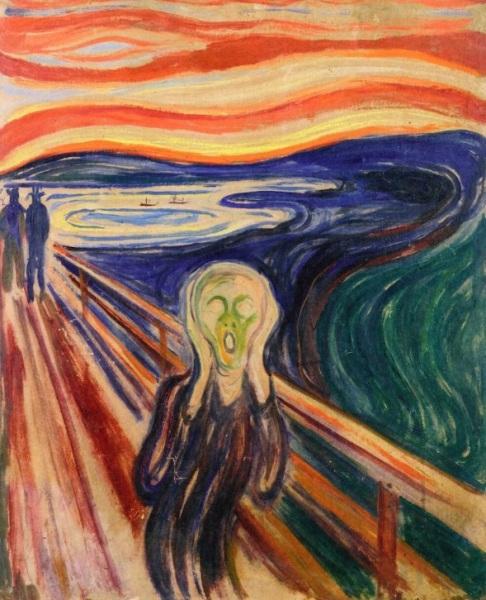 The Scream Edvard Munch - circa 1910 Tempera and oil on board