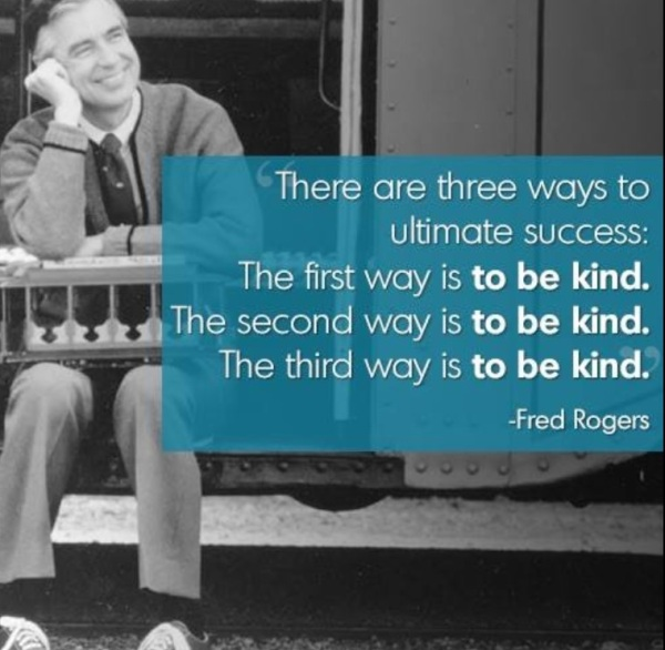 Mr. Rogers epitomized niceness and kindness.  He was a great role model for the Millenials.