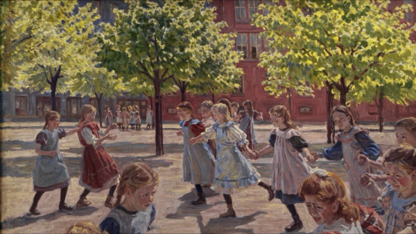 Playing Children, Enghave Square Peter Hansen, 1907-1908