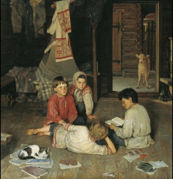 New Fairy Tale Nikolai Bogdanov-Belsky Russian 1891