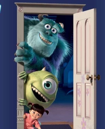 Sully, Mike and Boo  Monsters Inc. Boo is my favorite kid!