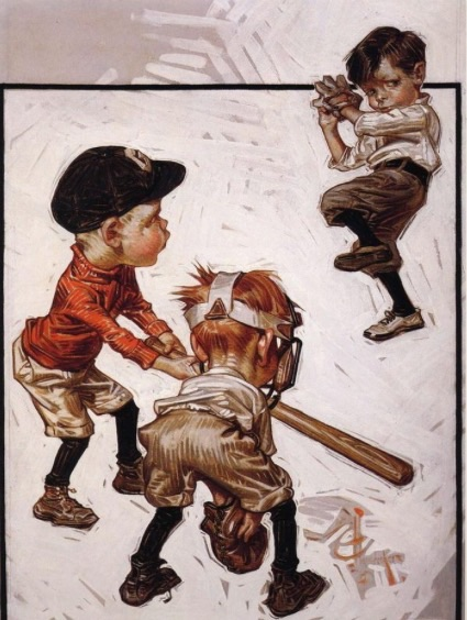 J.C. Leyendecker  Boys Playing Baseball (1915)