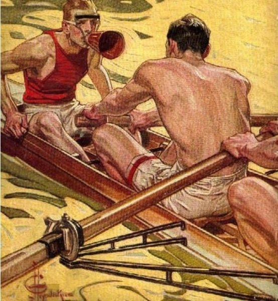 Cox and rowers The Popular Magazine, 1910,  J. C. Leyendecker (1874-1951)