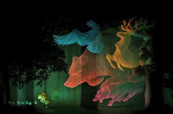 Art of Marija Tiurina - The Wood Spirits http://marijatiurina.com/