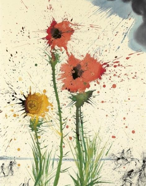 Explosive Spring by Salvador Dali