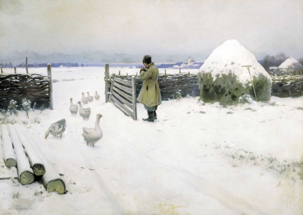 Mikhail Marianovich Germashev - Snow, (1897).